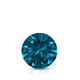 Certified 0.75 ct. tw. Round Blue Diamond Solitaire Pendant in 14k White Gold 4-Prong Basket (Blue, SI1-SI2)
