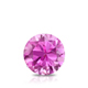 Certified 0.75 ct. tw. Round Pink Sapphire Gemstone Solitaire Pendant in 14k White Gold 4-Prong Basket (Pink, AAA)
