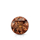 Certified 0.75 cttw Round Brown Diamond Stud Earrings in 14k White Gold 4-Prong Basket (Brown, SI1-SI2)