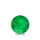 Certified 0.75 cttw Round Green Emerald Gemstone Stud Earrings in 14k White Gold 4-Prong Basket (Green, AAA)