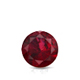 Certified 0.75 cttw Round Ruby Gemstone Stud Earrings in 14k White Gold 4-Prong Basket (Red, AAA)