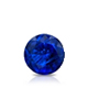 Certified 0.75 cttw Round Blue Sapphire Gemstone Stud Earrings in 14k White Gold 4-Prong Basket (Blue, AAA)