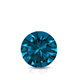 Certified 1.00 ct. tw. Round Blue Diamond Solitaire Pendant in 14k White Gold 4-Prong Basket (Blue, SI1-SI2)