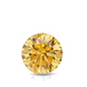 Certified 1.00 ct. tw. Round Yellow Diamond Solitaire Pendant in 14k White Gold 4-Prong Basket (Yellow, SI1-SI2)