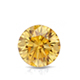 Certified 1.50 cttw Round Yellow Diamond Stud Earrings in 14k White Gold 4-Prong Basket (Yellow, SI1-SI2)