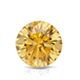 Certified 2.00 cttw Round Yellow Diamond Stud Earrings in 14k White Gold 4-Prong Basket (Yellow, SI1-SI2)