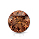 Certified 2.00 cttw Round Brown Diamond Stud Earrings in 14k White Gold 4-Prong Basket (Brown, SI1-SI2)