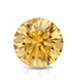 Certified 2.50 cttw Round Yellow Diamond Stud Earrings in 14k White Gold 4-Prong Basket (Yellow, SI1-SI2)