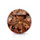 Certified 2.50 cttw Round Brown Diamond Stud Earrings in 14k White Gold 4-Prong Basket (Brown, SI1-SI2)