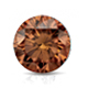 Certified 3.00 cttw Round Brown Diamond Stud Earrings in 14k White Gold 4-Prong Basket (Brown, SI1-SI2)