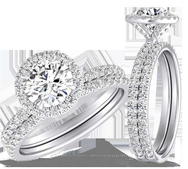 Preset Diamond Wedding Ring Sets