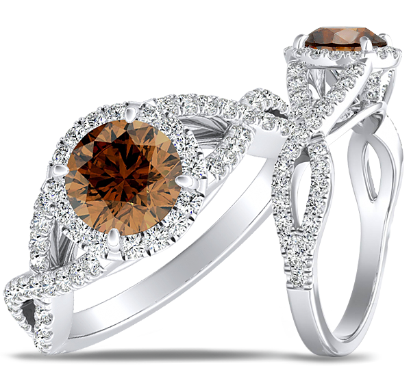 Brown Diamond Engagement Rings