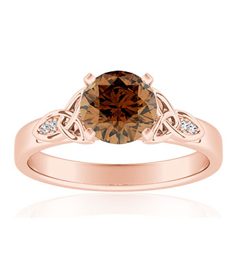 Brown Diamond Engagement Rings