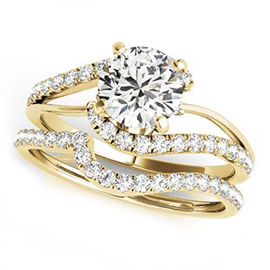 Diamond Engagement Rings  Matched Sets