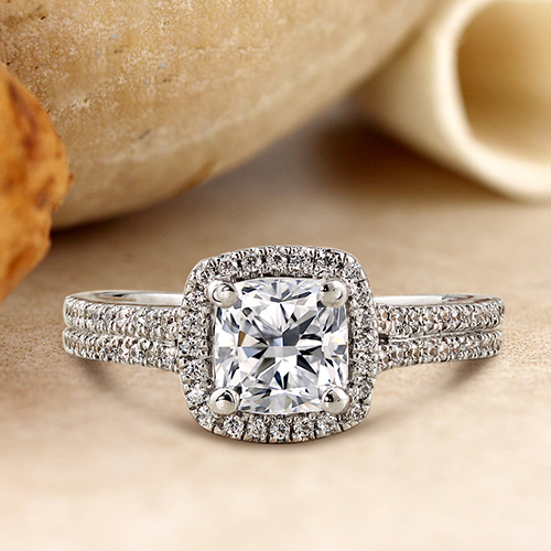 Cushion-cut rings