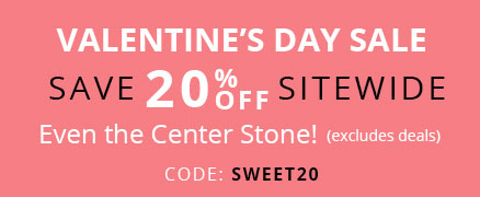 Valentine Day Save 20% off Sitewide