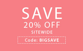 Save 20% off Sitewide