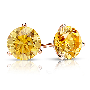 Yellow Diamond Earrings YELLOW DIAMOND