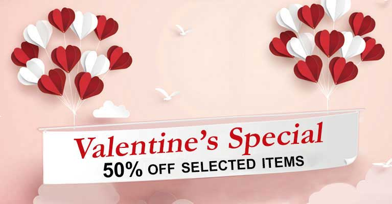 Valentines Special Extra 50% off selected items
