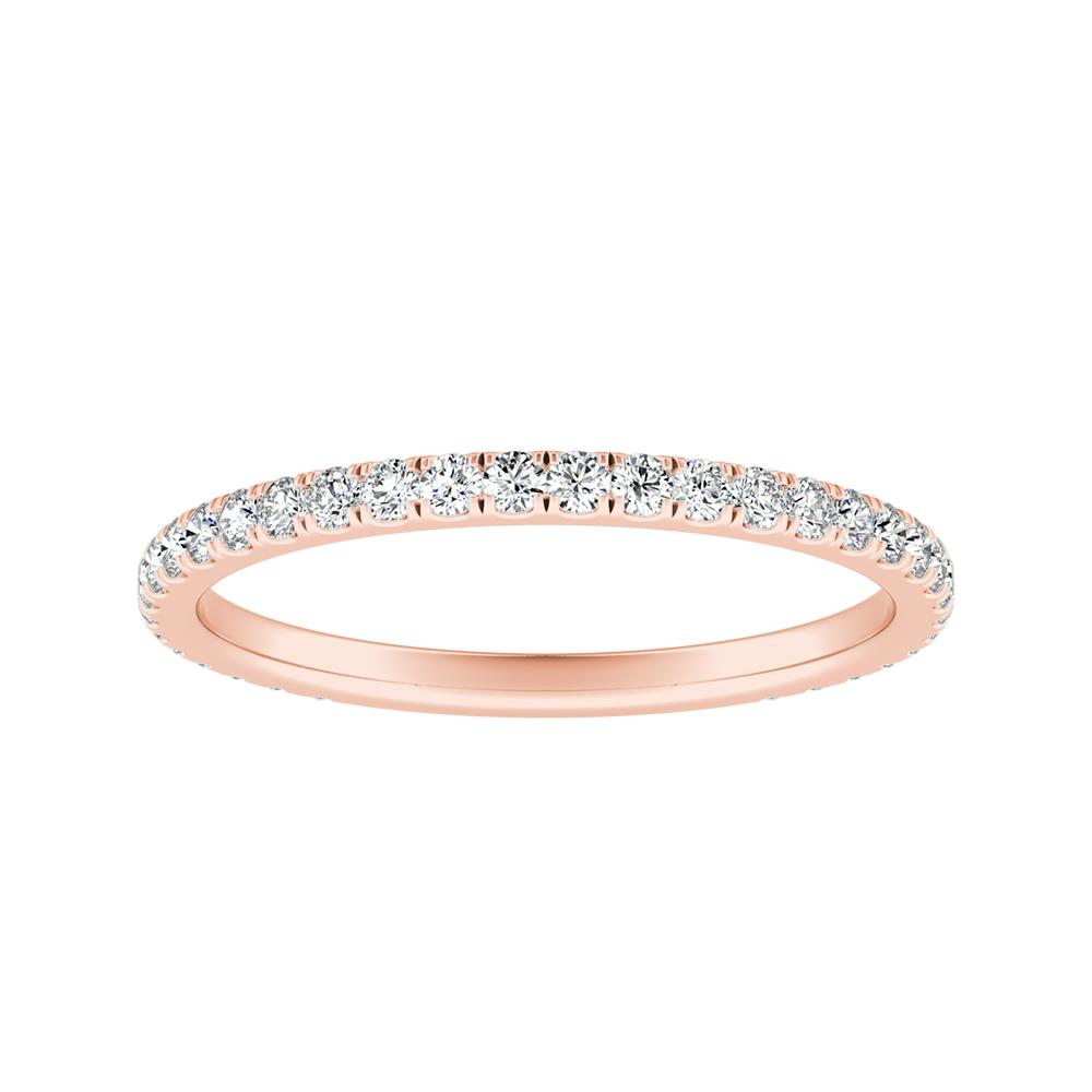SKYLAR Diamond Wedding Ring In 14K Rose Gold
