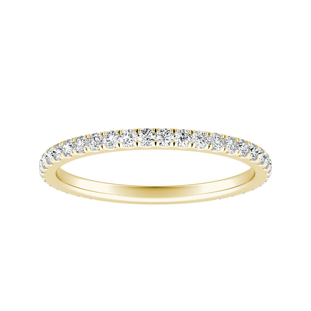 SKYLAR Diamond Wedding Ring In 14K Yellow Gold