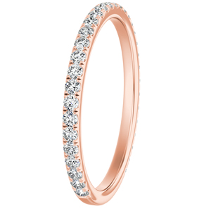 SKYLAR Diamond Wedding Ring In 14K Rose Gold