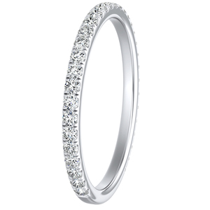 SKYLAR Diamond Wedding Ring In 14K White Gold
