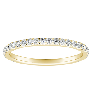 SKYLAR Diamond Wedding Ring In 14K Yellow Gold