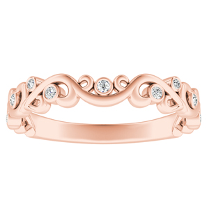 DAISY Floral Diamond Wedding Ring In 14K Rose Gold