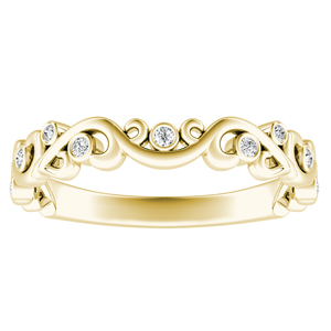 DAISY Floral Diamond Wedding Ring In 18K Yellow Gold