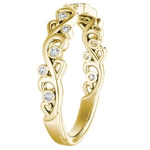 DAISY Floral Diamond Wedding Ring In 14K Yellow Gold