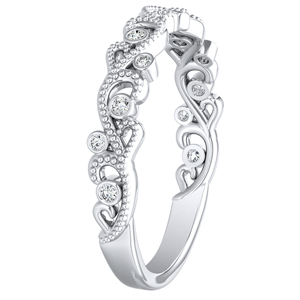 LILA Diamond Wedding Ring In 14K White Gold