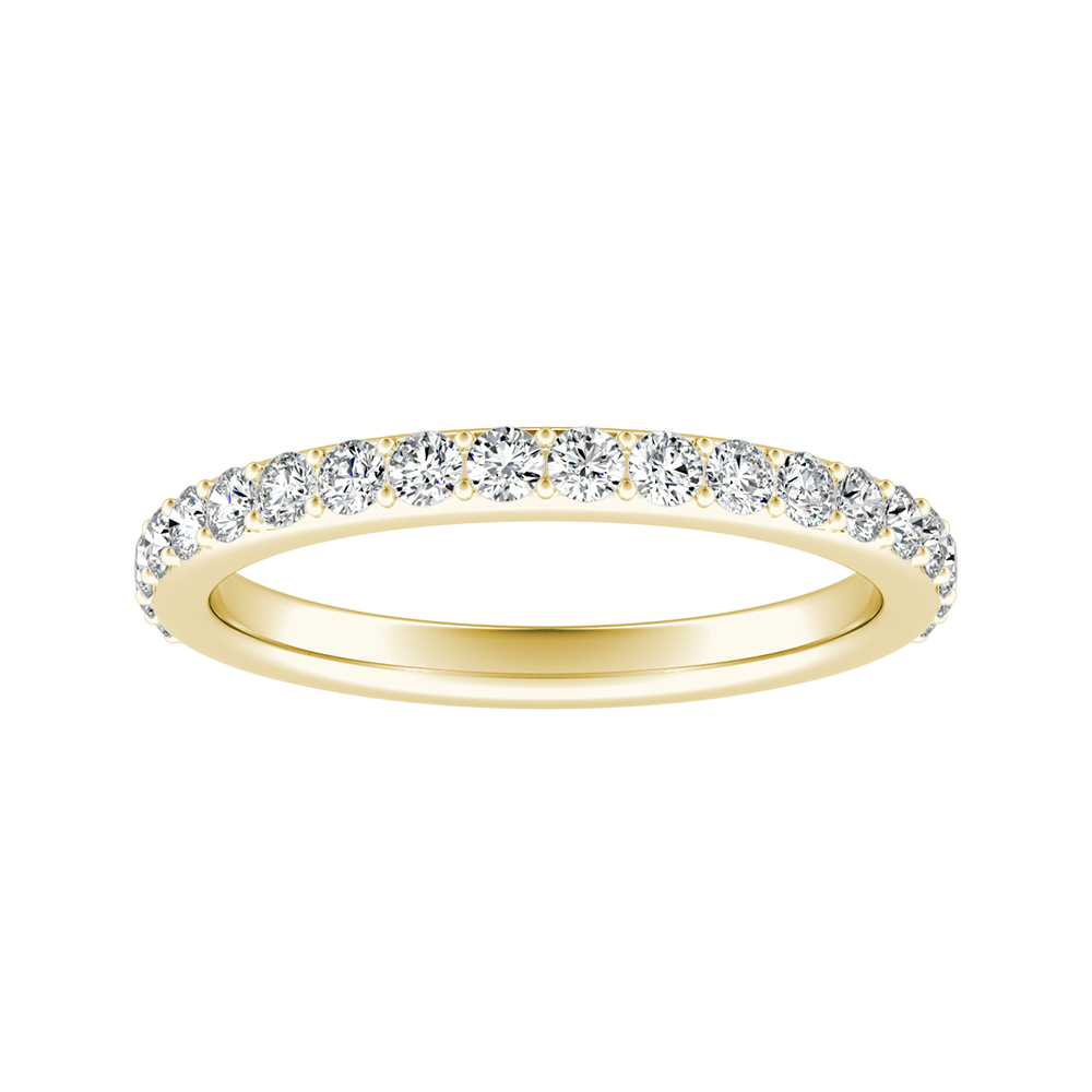 ELLA Classic Diamond Wedding Ring In 18K Yellow Gold