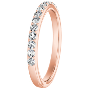 ELLA Classic Diamond Wedding Ring In 14K Rose Gold