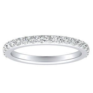 ELLA Classic Diamond Wedding Ring In 14K White Gold