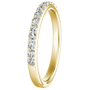 ELLA Classic Diamond Wedding Ring In 14K Yellow Gold