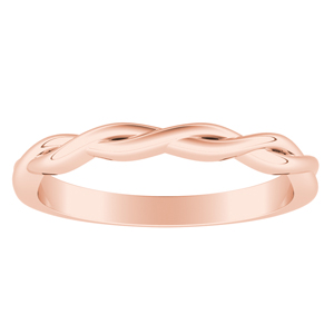ELISE Twisted Wedding Ring In 14K Rose Gold