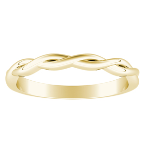 ELISE Twisted Minimalist Wedding Ring In 14K Yellow Gold