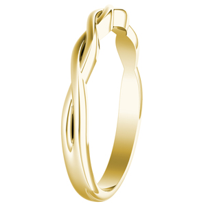 ELISE Twisted Wedding Ring In 14K Yellow Gold