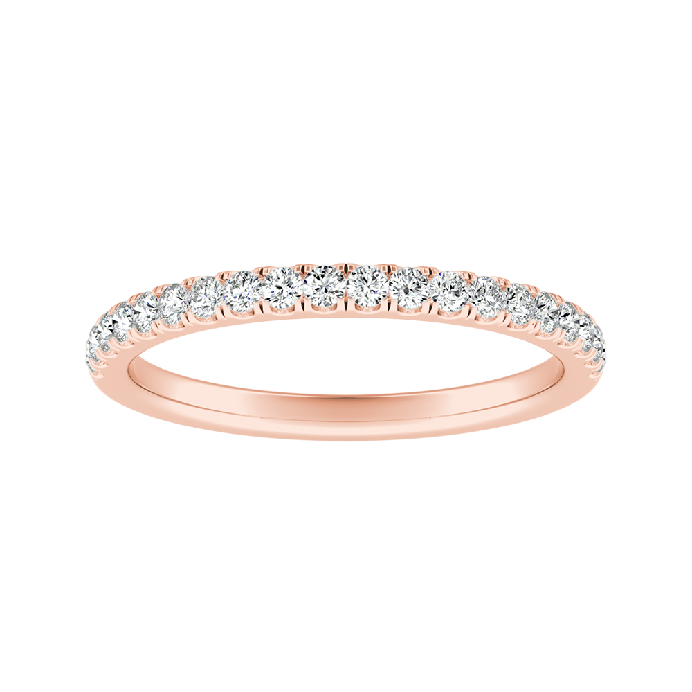 MERILYN Diamond Wedding Ring In 14K Rose Gold
