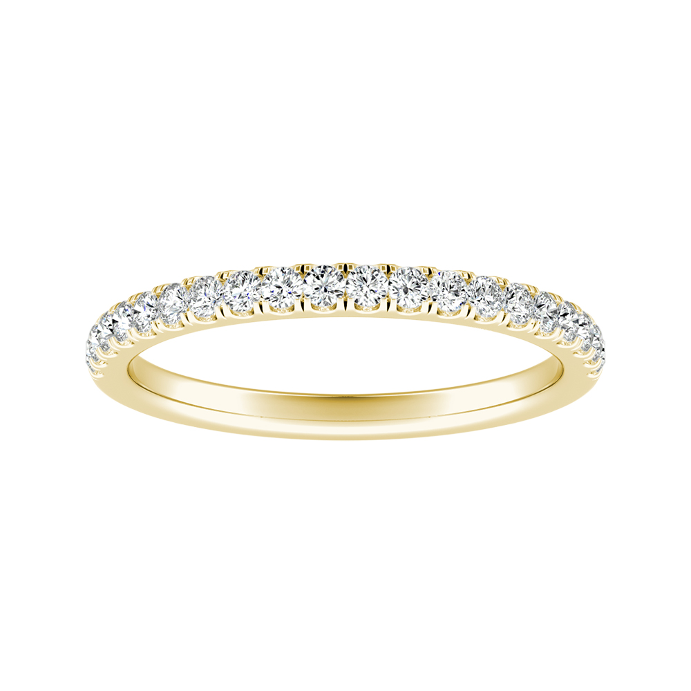 MERILYN Diamond Wedding Ring In 14K Yellow Gold