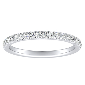 MERILYN Diamond Wedding Ring In 18K White Gold