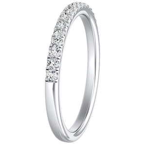 MERILYN Diamond Wedding Ring In 14K White Gold