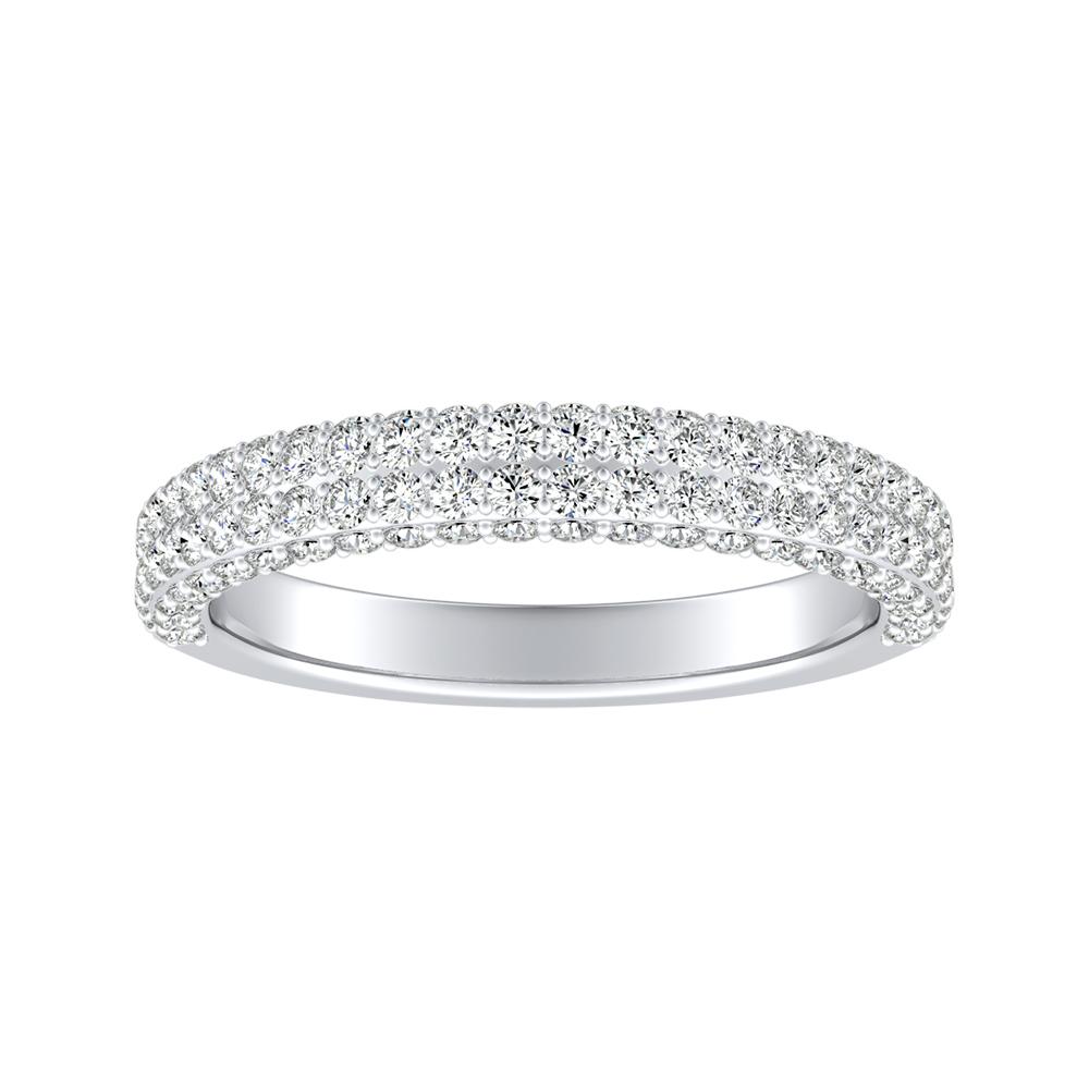 ALEXIA Diamond Wedding Ring In 14K White Gold