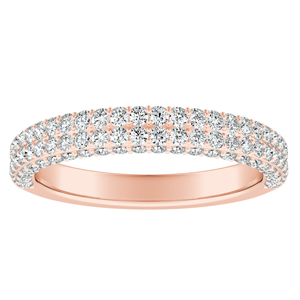 ALEXIA Diamond Wedding Ring In 14K Rose Gold