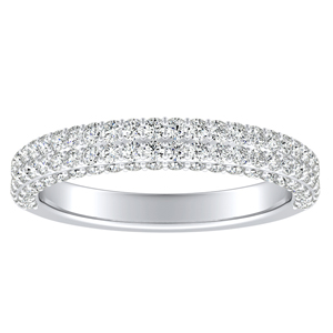 ALEXIA Diamond Wedding Ring In 18K White Gold