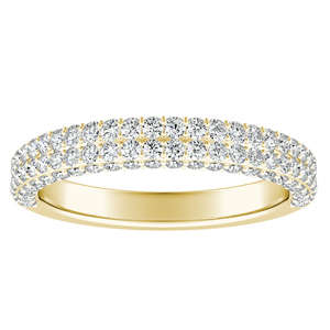 ALEXIA Diamond Wedding Ring In 14K Yellow Gold