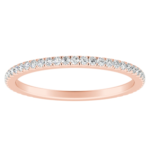 AUDREY Classic Diamond Wedding Ring In 14K Rose Gold