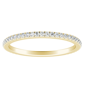 AUDREY Classic Diamond Wedding Ring In 14K Yellow Gold