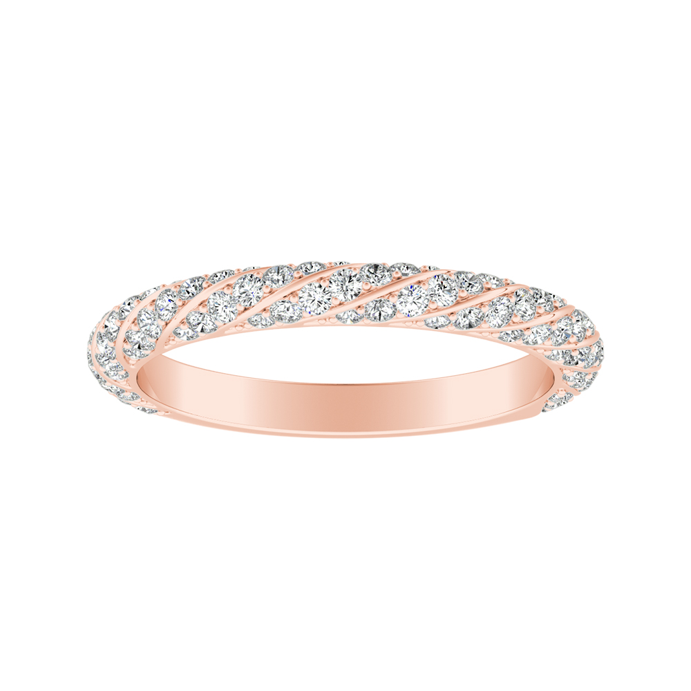 VIVIEN Diamond Wedding Ring In 14K Rose Gold